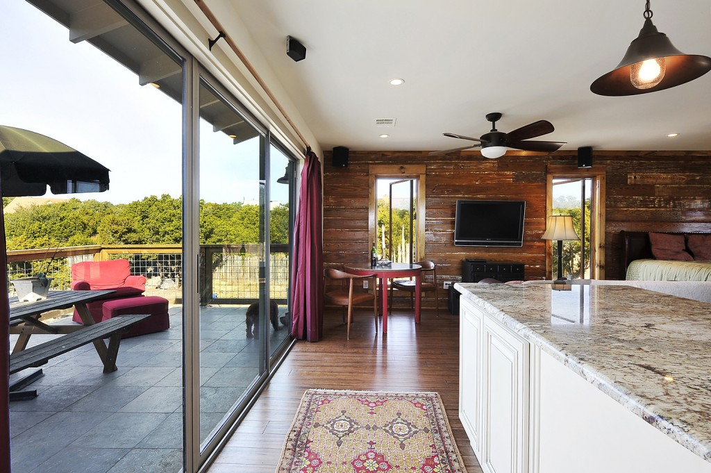 Hill country guest house capstone homes for 12 foot sliding patio doors