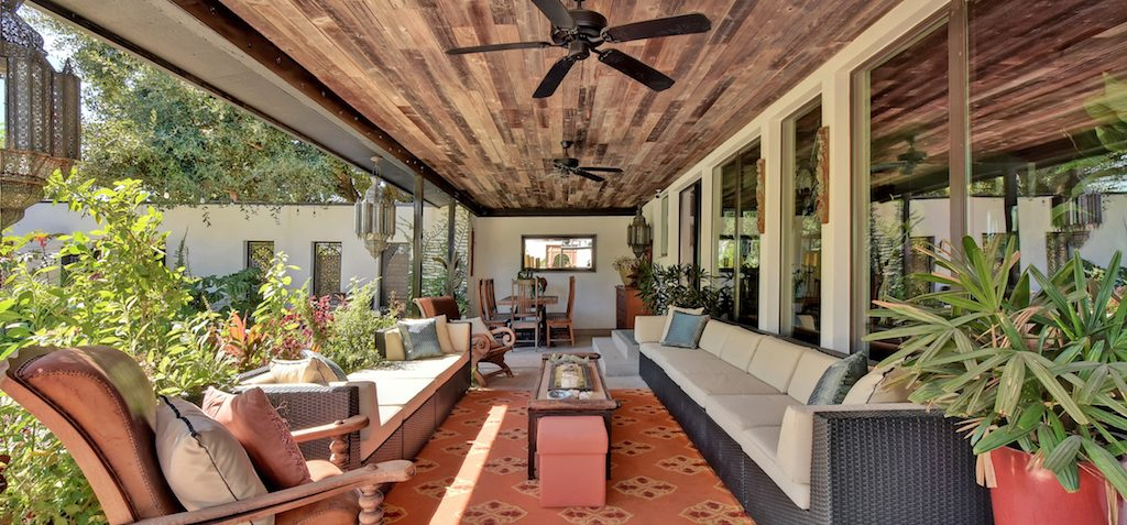 Walnut Creek remodel, Moroccan industrial style, outdoor living area